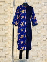 Load image into Gallery viewer, Navy Blue Light Pashmina Winter Designer Kurti with Embroidery