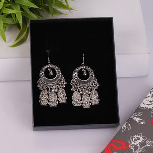 Silver Traditional Drop Earrings