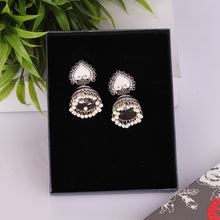 Load image into Gallery viewer, Silver Ace Style Jhumkas