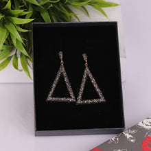 Load image into Gallery viewer, Silver Triangular Drop Earrings