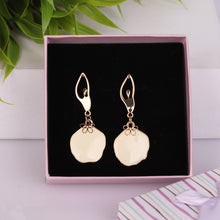 Load image into Gallery viewer, Golden Contemporary Drop Earrings
