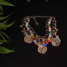 Load image into Gallery viewer, Multicolour Coin & Beaded Bracelet For Women