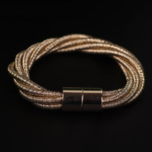Load image into Gallery viewer, Gold Intertwined Magnetic Bracelet For Women