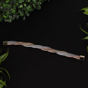 Rose Gold & Silver Intertwined Bracelet For Women