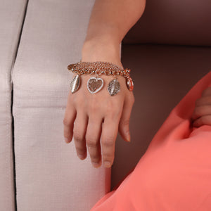 Rose Gold Style Statement Bracelet For Women