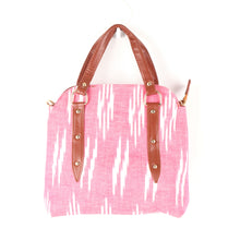 Load image into Gallery viewer, Ikkat pink Satchel Bag