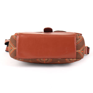 Canvas printed sling bag