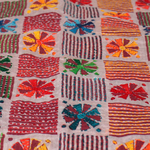 Colorful Chakris Hand-Made Dupatta