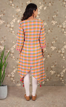 Load image into Gallery viewer, Colored Meadow Asymmetric Kurta With Pocket