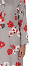 Load image into Gallery viewer, Black White Striped Floral Kurta