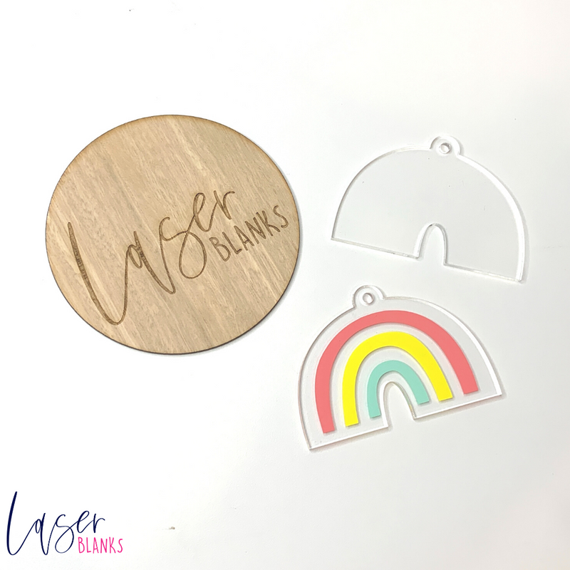 Rainbow Keyring 3mm