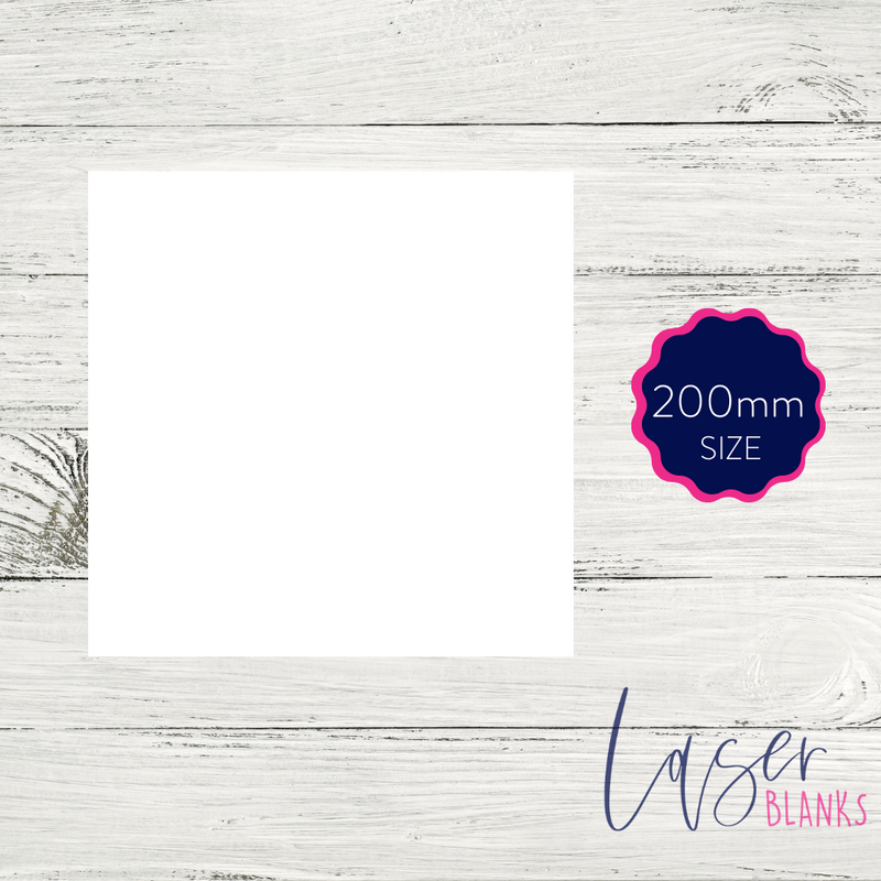200mm Square Acrylic Blank | 2mm