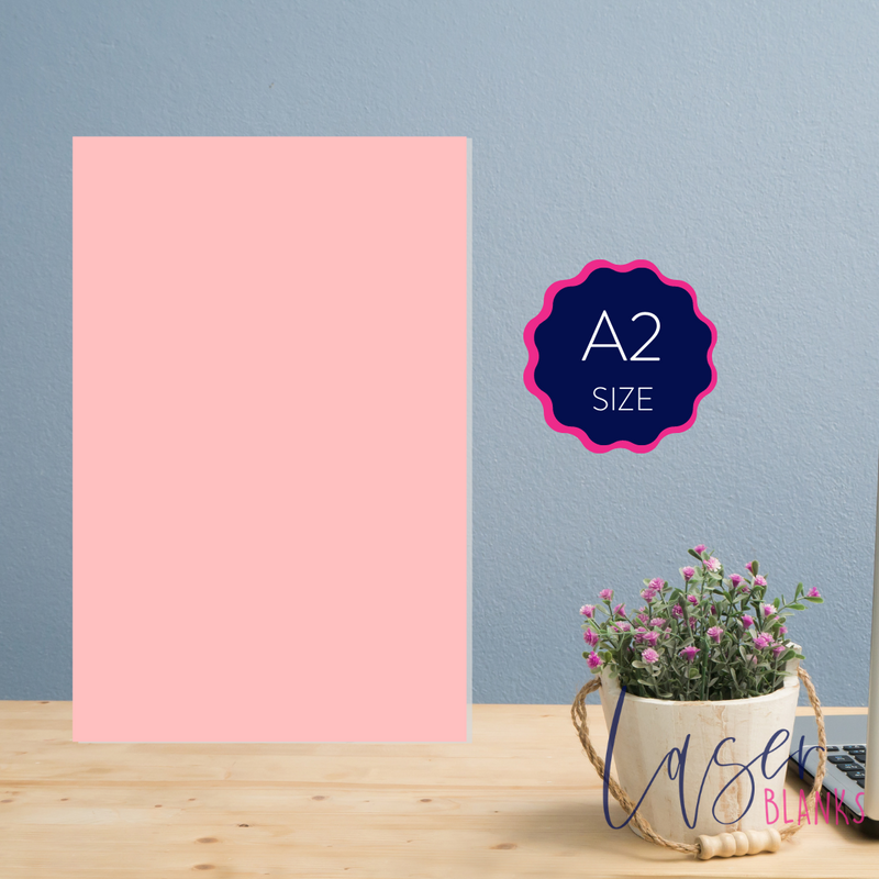 A2 Acrylic Blank Rectangle | 3mm | Pastel Range