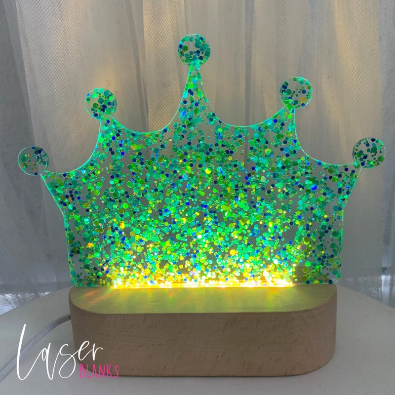 Glitter Crown LED Light Insert | Panel [2 colours]