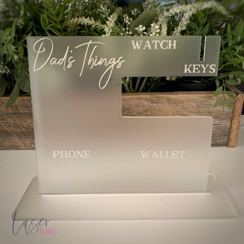 Dad's Things Acrylic Blank Stand | Phone, Watch, Wallet, Keys Holder | Gift for Him