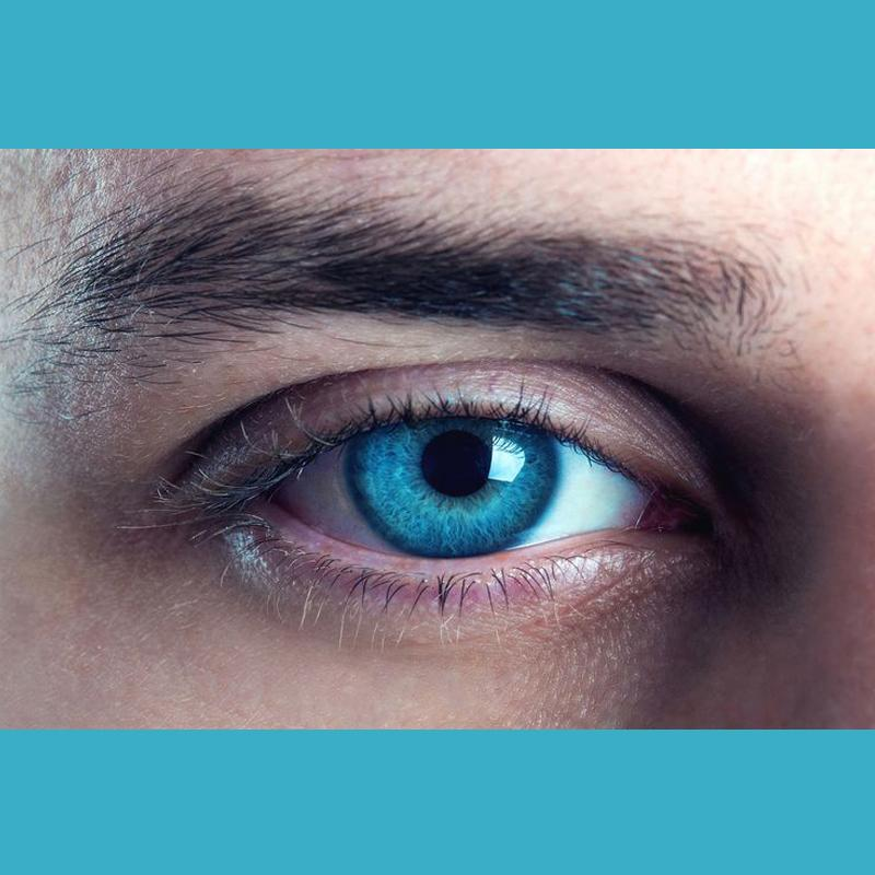 Men's natural ice blue eyes (12 months) contact lenses