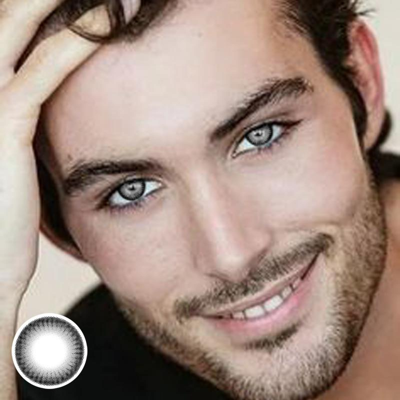 Men's black color contact lenses
