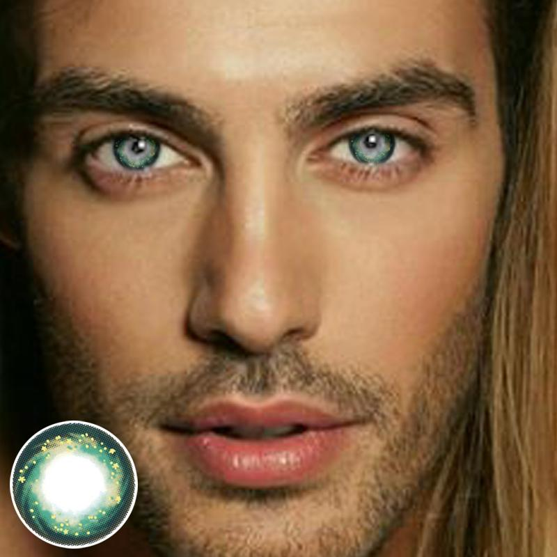 Men's Green Starry Sky (12 months) contact lenses