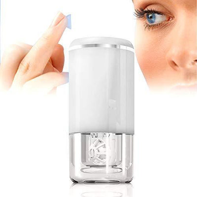 Ultrasonic contact lens cleaner, smart cleaner for soft and rigid contact lenses, white