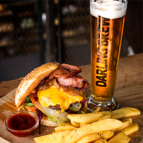 Darling Brew Delicious Bacon Cheese Burger Craft Beer Home Delivery