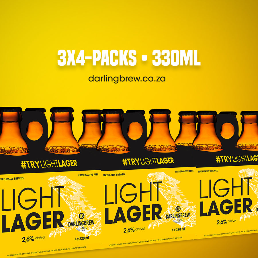Light Lager (12 x 330ml) - Darling Brew