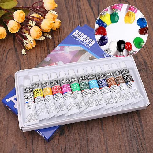 Professional Acrylic Paints Set 12 Colours 6ml - That Prints