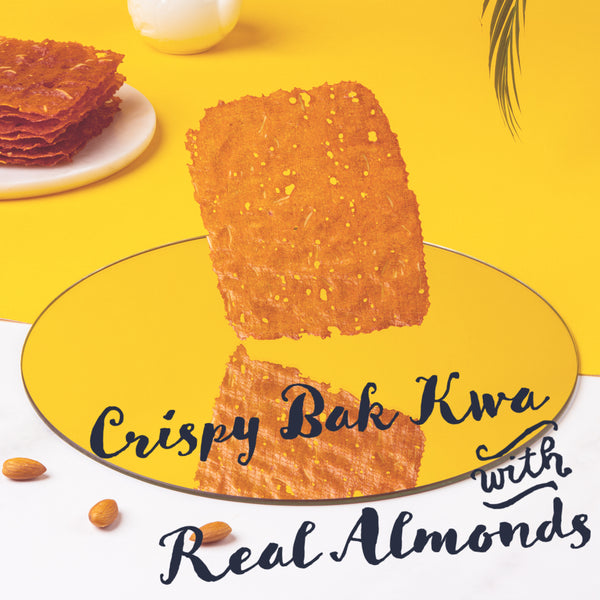 Crispy Bak Kwa with Almonds (50g) 香脆杏仁肉干