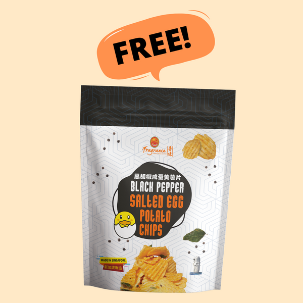 Black Pepper Salted Egg Potato Chips (105g) 黑胡椒咸蛋薯片