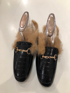 Gold Bar Fur Mule