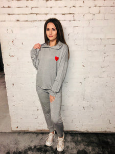 Heart Hooded Loungesuit
