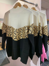 Load image into Gallery viewer, Gold Snake Chevron Jumper