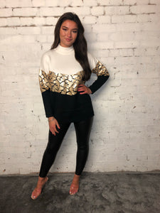 Gold Snake Chevron Jumper