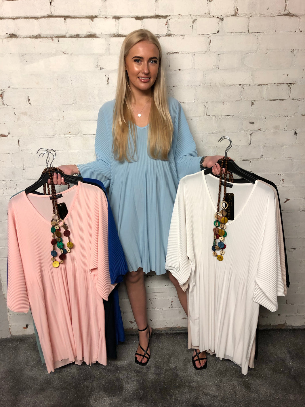 Pleat Necklace Tunic