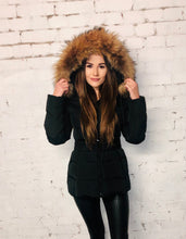Load image into Gallery viewer, Fur Hood Coat