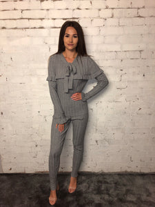 Rib Tye Neck Suit