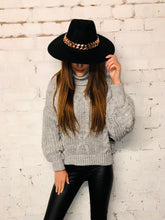 Load image into Gallery viewer, Roll Neck Cable Knit Jumper