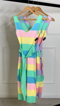 Load image into Gallery viewer, Rainbow Belt Dress