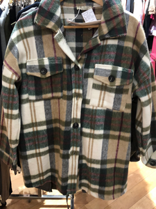 Checked Soft Fleece Shirt Jacket