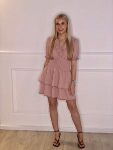 Elastic Centre Frill Dress