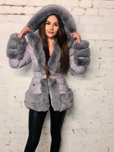 Justine Faux Fur Coat