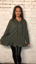 Load image into Gallery viewer, Hooded Frill Bottom Tunic