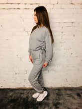 Load image into Gallery viewer, Rouche Side Sweat Suit