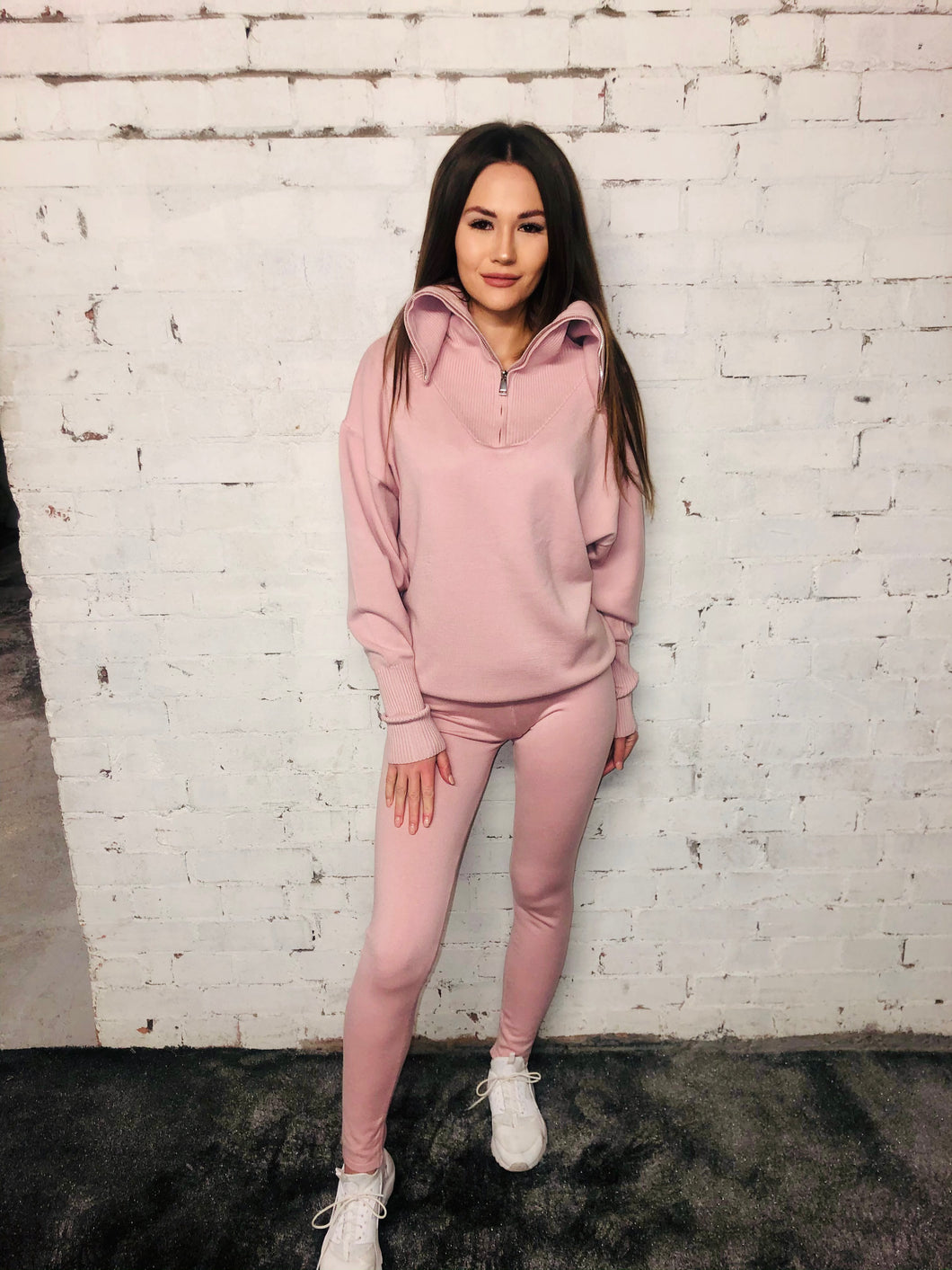 Soft Knit Zipper Suit