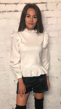 Load image into Gallery viewer, Contrast Frill Victorian Jumper