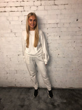 Load image into Gallery viewer, Italian Lace Side Sweat Suit