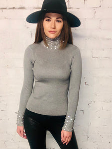 Diamond Neck And Cuff Jumper