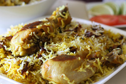 Hyderabadi Chicken Dum Biriyani - Andhra Mess Indian Cuisinse