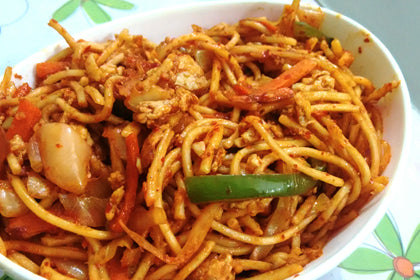 Andhra Spicy Egg Noodles - Andhra Mess Indian Cuisinse