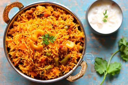 Hyderabadi Veg Dum Biriyani - Andhra Mess Indian Cuisinse
