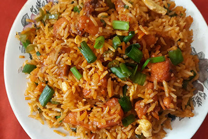 Schezwan Fried Rice(Chicken) - Andhra Mess Indian Cuisinse